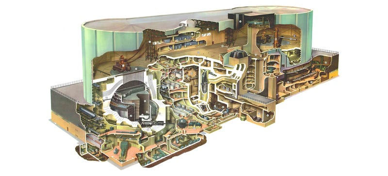 Illustration for article titled These Vintage Cutaway Drawings Show How Nuclear Reactors Really Work