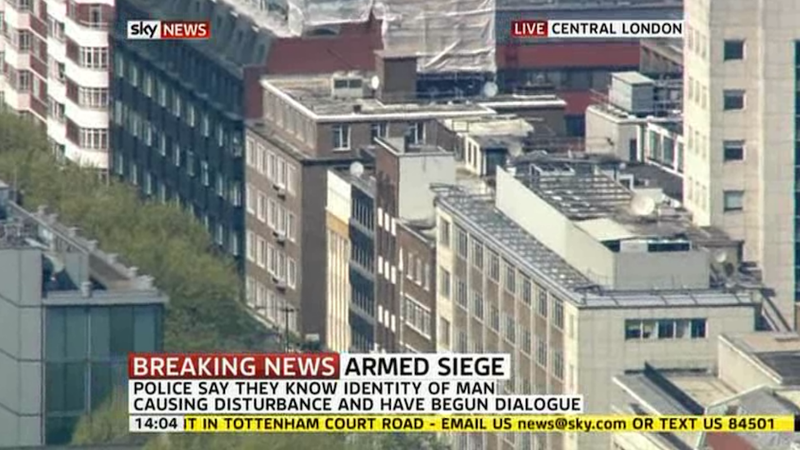 Illustration for article titled Man Holding Central London Building Captive with Homemade Bomb (Updating)