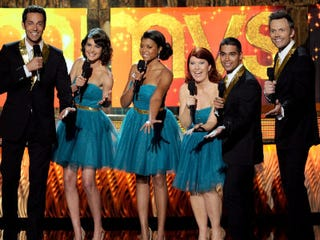 Taraji P. Henson and other entertainers sing during the telecast. (Getty Images)