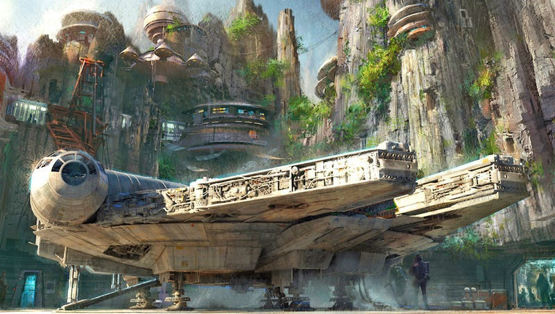 Illustration for article titled Un primer vistazo al prometedor parque de atracciones de Star Wars en Disneyland