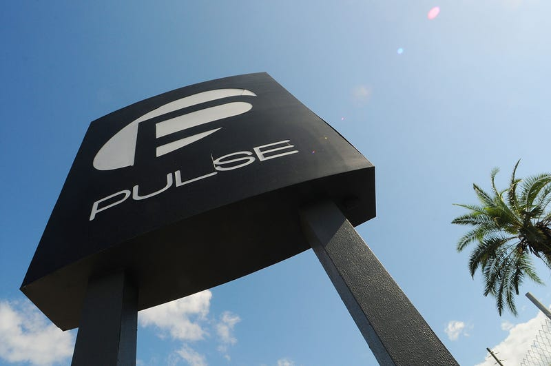 A view of the Pulse nightclub sign June 21, 2016, in Orlando, Fla. Gerardo Mora/Getty Images