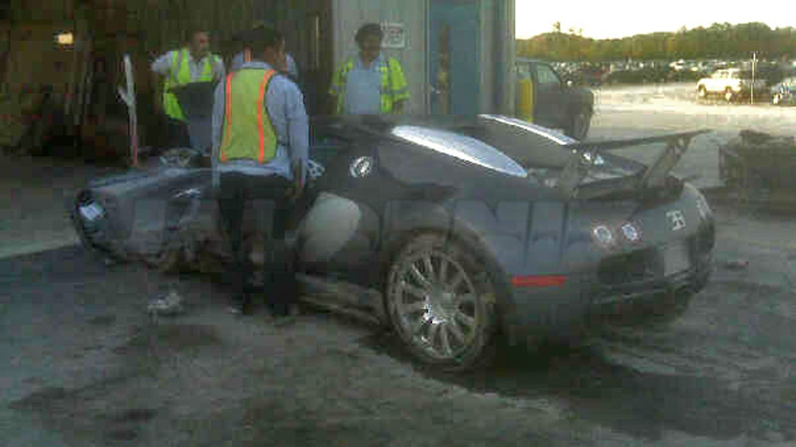 EXCLUSIVE: First Post-Lake Crash Bugatti Veyron Photo