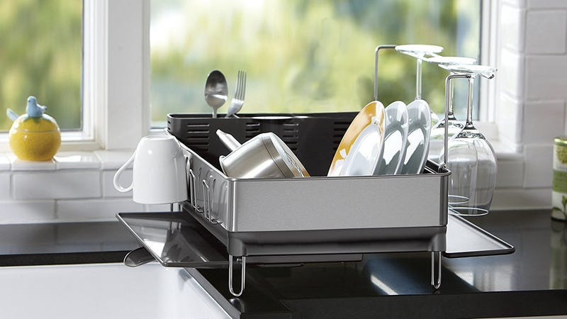 simplehuman Stainless Steel Dish Rack with Swivel Spout | $65 | Amazon