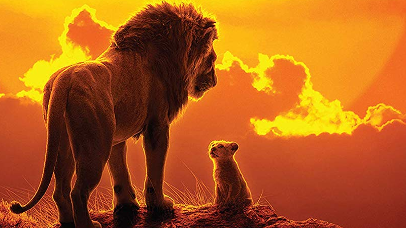 Father and son, on the cover of the new soundtrack for The Lion King.