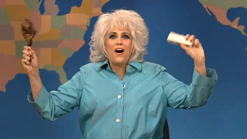 Illustration for article titled Kristen Wiig's Paula Deen Impression Is So Delicious, It Might Have Been Fried in Butter and Oil