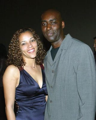 Actor Michael Jace and his wife, April, attend a premiere screening of The Shield at the Zanuck Theater in Los Angeles on March 8, 2004.Frederick M. Brown/Getty Images