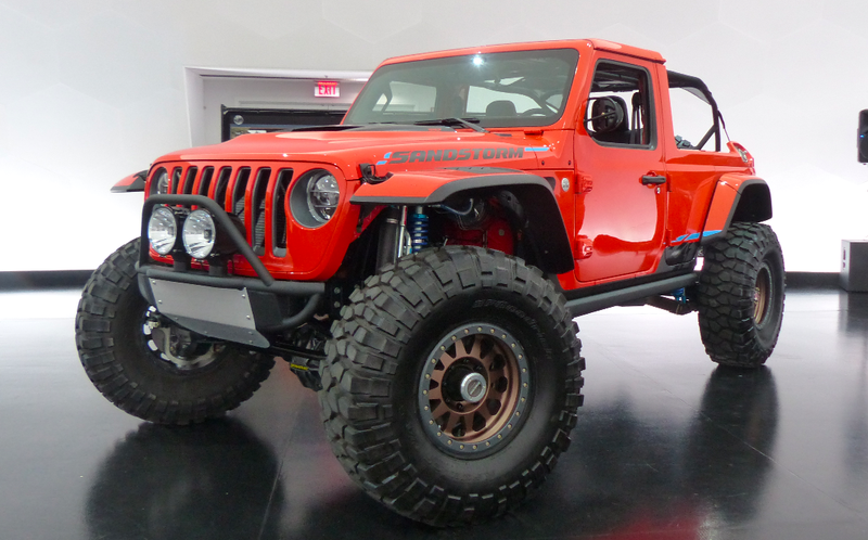 Illustration for article titled The Jeep Sandstorm Concept Is A Jeep Wrangler JL Turned Into The Ultimate Baja Racer