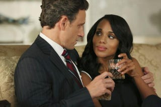 In Scandal, Fitz (Tony Goldwyn) and Olivia (Kerry Washington) are carrying on in the White House as though he doesn't even have a wife. Total disrespect.John Fleenor/ABC
