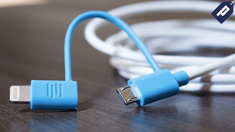 Illustration for article titled Get 2 Extra-Long 2-in-1 Charging Cables For $15 + Free Shipping