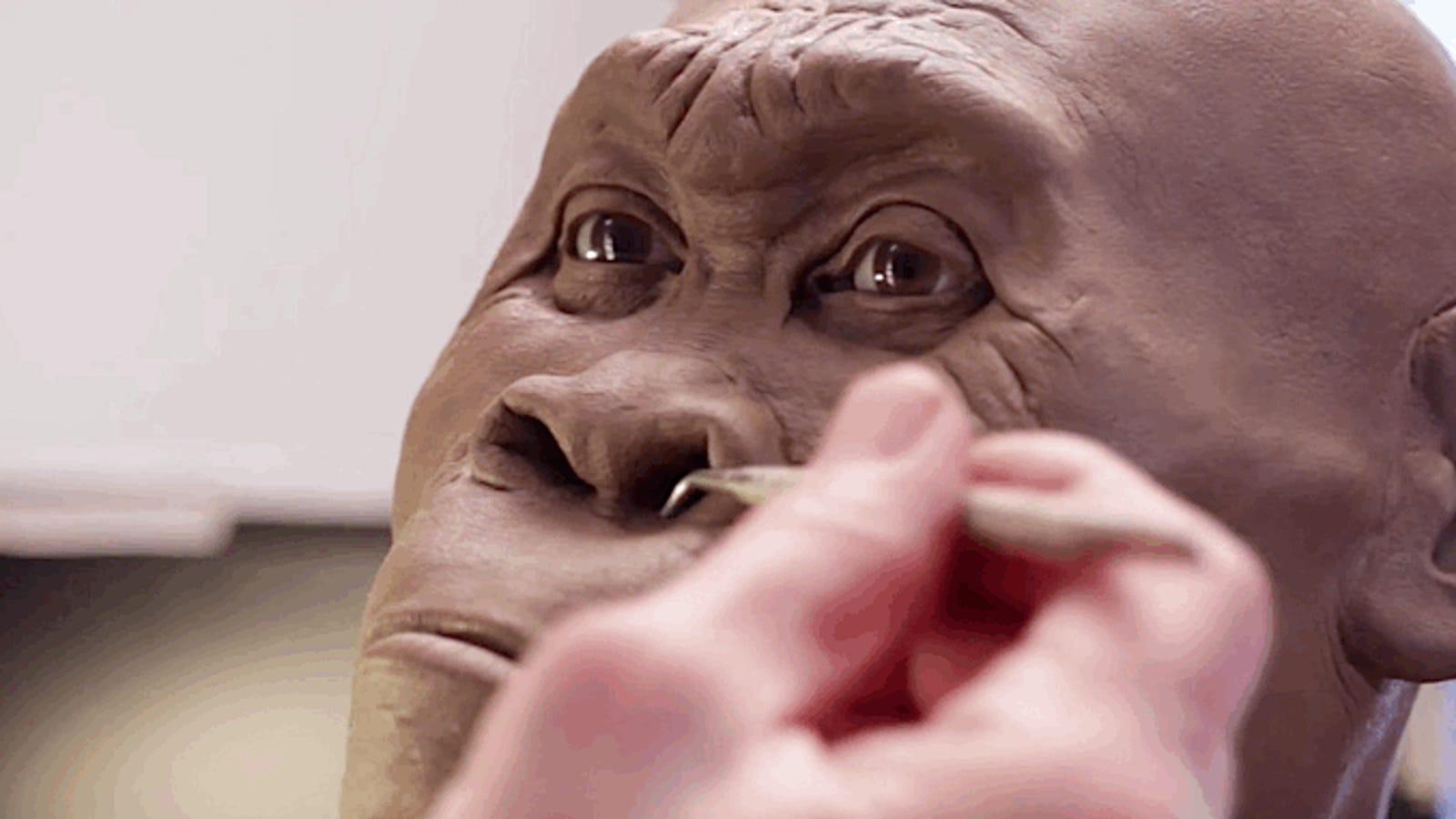 Así se reconstruye la cara de un homínido que vivió hace cientos de miles de años