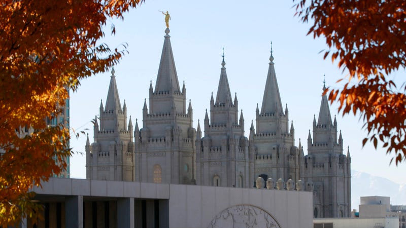 The Mormon Church's historic Salt Lake City Temple, photographed in 2015.