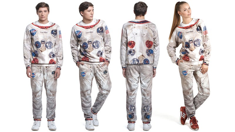 Illustration for article titled Start Your Astronaut Training With This Fake Spacesuit Sweatsuit