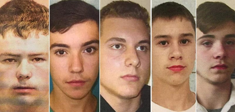 Kyle Anger, Mikadyn Payne, Alexander Miller, Mark Sekelsky and Trevor Gray (Genesee County, Mich., Sheriff's Office)