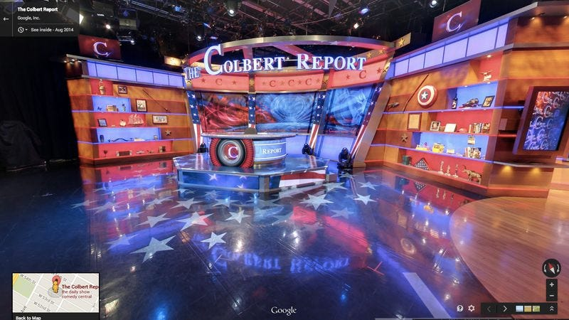 Illustration for article titled Let Google Maps take you inside the Colbert Report studio