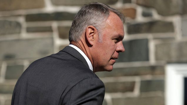 Ryan Zinke Says  Radical Environmentalists  Are to Blame For the Wildfire That s Killed 79 People