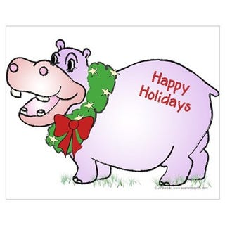Have a holiday hippo that I stole from the internet