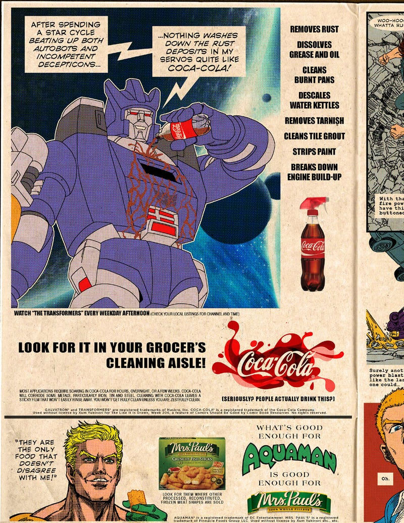 Illustration for article titled Superheroes Endorse Real-Life Products In These Fake Advertisements