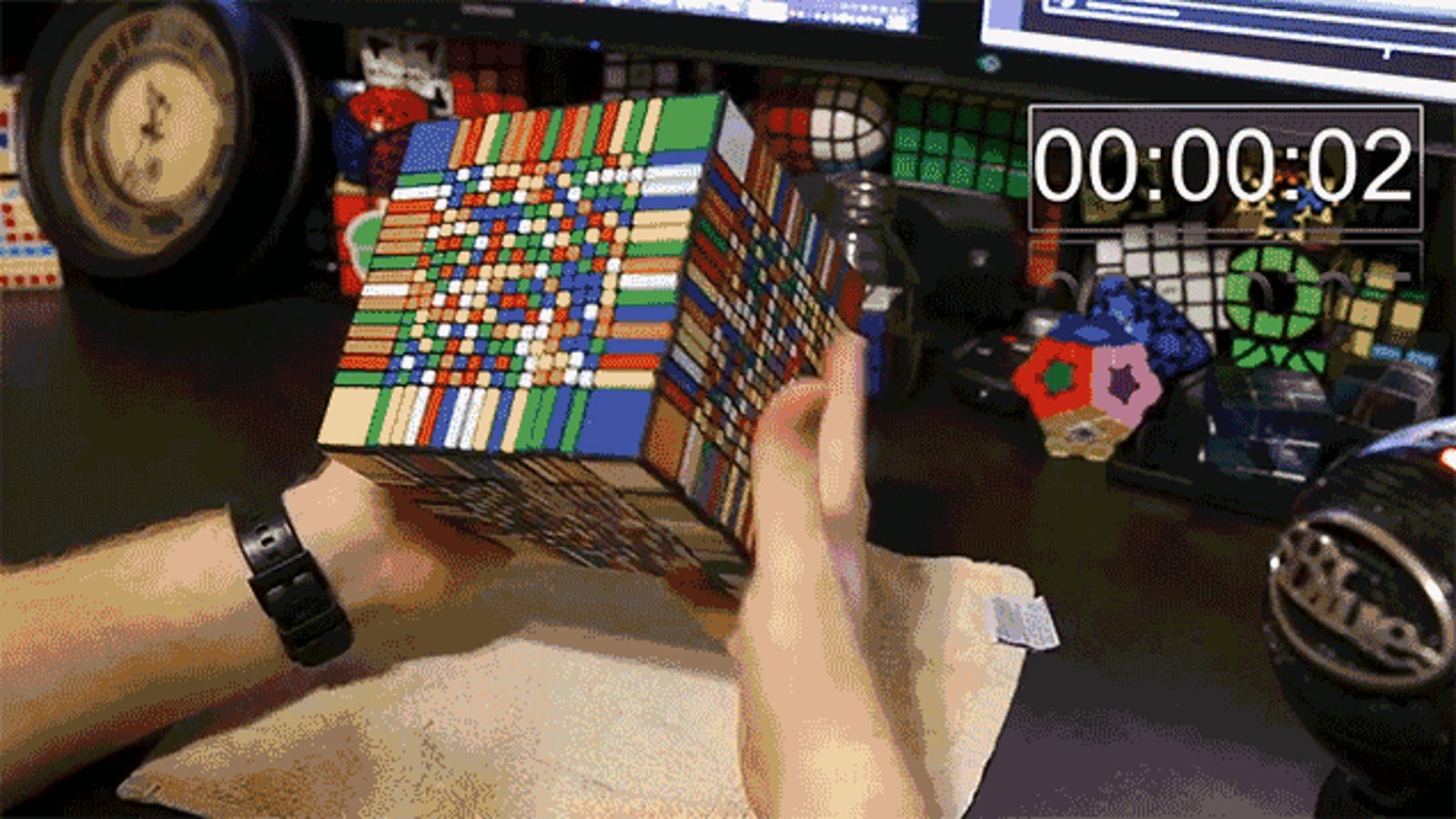 It Took This Guy Over 7 Hours To Solve the World's Hardest Rubik's Cube
