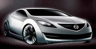 Illustration for article titled Mazda 6 Coupe Sketch Emerges, Confuses