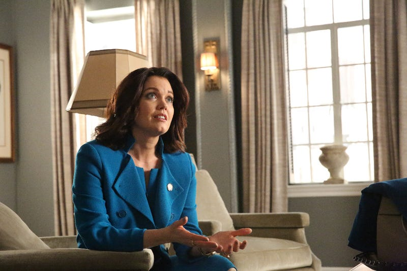 Mellie (Bellamy Young) is the president, but she's not really in charge. (Mitch Haaseth/ABC)
