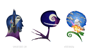 Illustration for article titled The Filmography of Tim Burton, as told by stunning Silhouettes