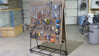Illustration for article titled Build a Rolling Pegboard Tool Organizer