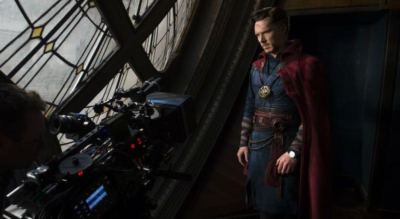 Benedict Cumberbatch on the set of Doctor Strange. All Images: Disney