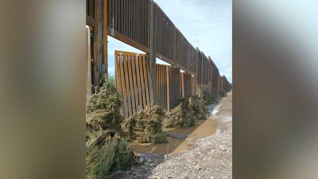 Trump s Border Wall Torn Apart by Arizona Monsoon Rains