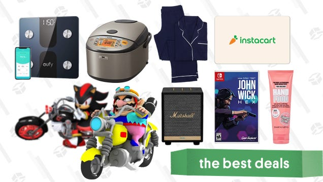 Friday s Best Deals: Instacart Gift Card, Sony WF-1000XM3 Earbuds, Eufy Smart Scale, John Wick Hex, Soap & Glory, Crane & Canopy Sleep Set, and More