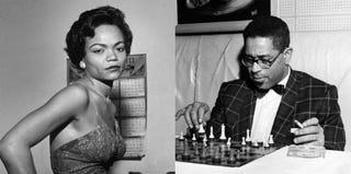 Eartha Kitt (left); Dizzy Gillespie (Ebony Collection)