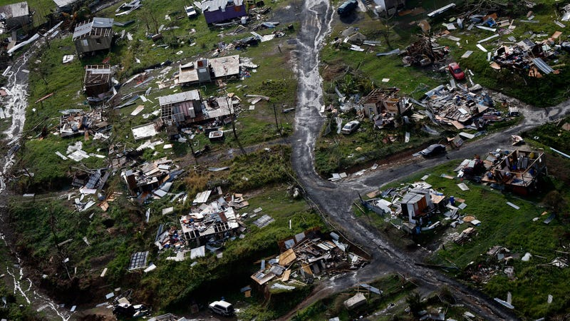 Destroyed communities in Toa Alta, Puerto Rico, in the aftermath of Hurricane Maria in September 2017. Photo: AP
