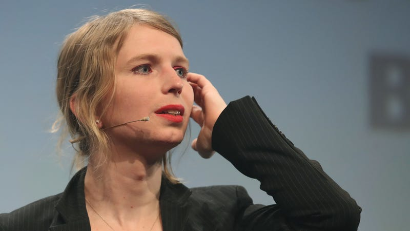Chelsea Manning, in what she said is her first strip outside of the United States since she was released from a U.S. prison, speaks at the annual re:publica conferences on their opening day on May 2, 2018 in Berlin, Germany.
