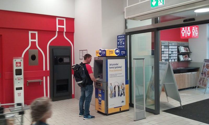 Un cajero de Euronet