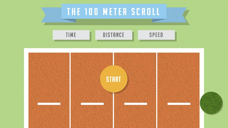 Illustration for article titled The 100 Meter Scroll Turns Browsing Into an Olympic Sport