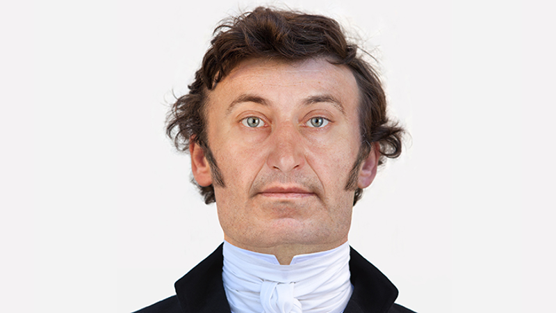 Digital facial reconstruction of John Bellingham, the only person to have successfully assassinated a British Prime Minister, which he did in 1812.