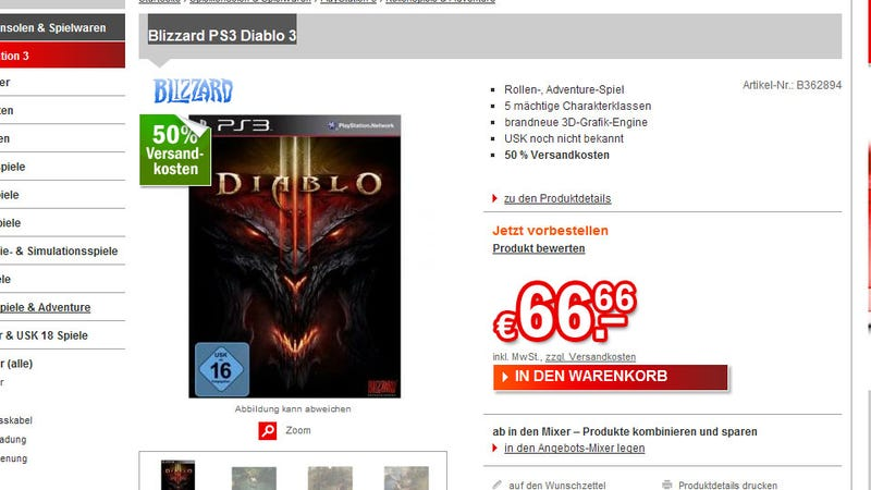 Illustration for article titled Diablo III on PS3? These Germans Certainly Think So.