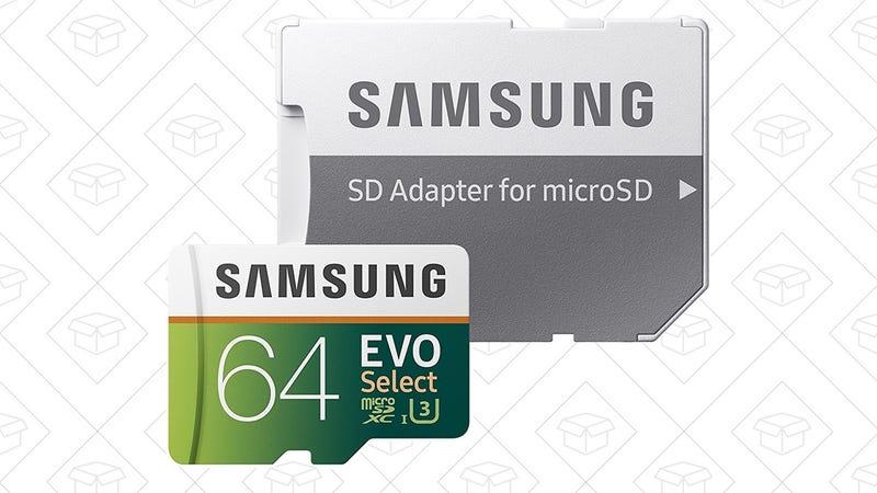 Tarjeta microSD Samsung de 64GB   $20   AmazonTarjeta microSD Samsung de 128GB   $40   Amazon
