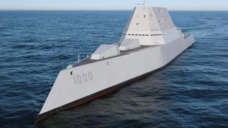 Illustration for article titled La Marina de Estados Unidos enseña por primera vez en vídeo a su destructor más avanzado