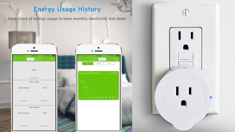 Etekcity Energy Monitoring Smart Plug | $13 | Amazon | Promo code 7FRQNW4M