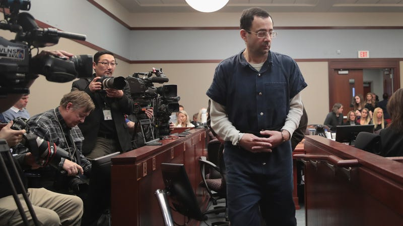 Photo of Larry Nassar in Ingham County Court: Scott Olson/Getty Images