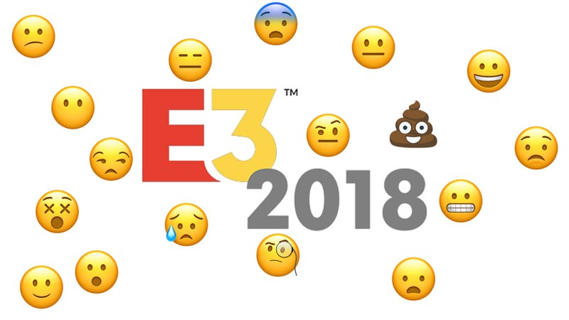 Illustration for article titled I Review the E3 Press Conferences with Emojis
