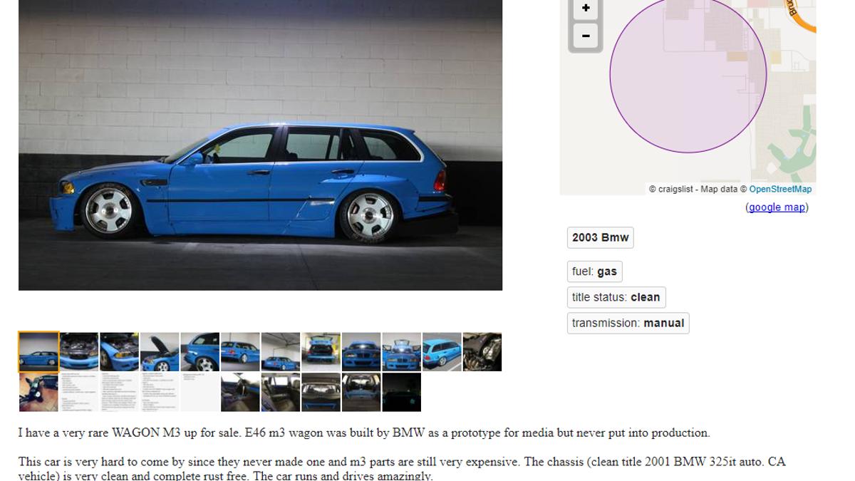 Bmw E46 Wagon For Sale Craigslist This 3Series Wagon Has the Engine
