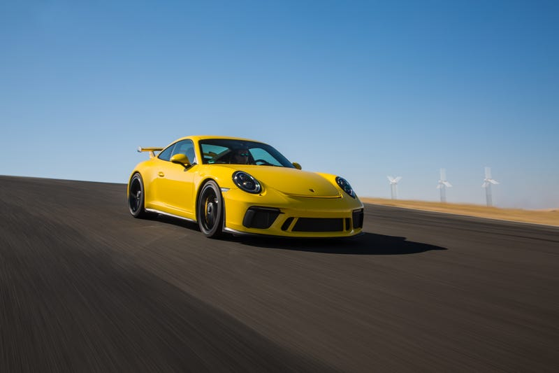 Look at this big yellow perfect idiot. Photo: Porsche