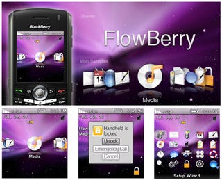 Illustration for article titled BlackBerry FlowBerry Theme is for Closet Mac Admirers Who Can't Pull the Trigger