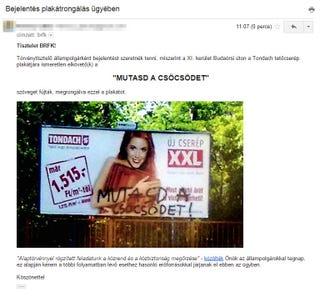 Illustration for article titled Bejelentést tettek a régi csöcsös plakátom miatt a rendőrségnél