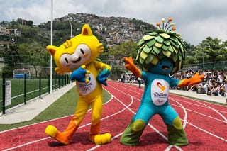 Illustration for article titled Meet The Rio De Janeiro Olympic Mascots: Cat And Tree