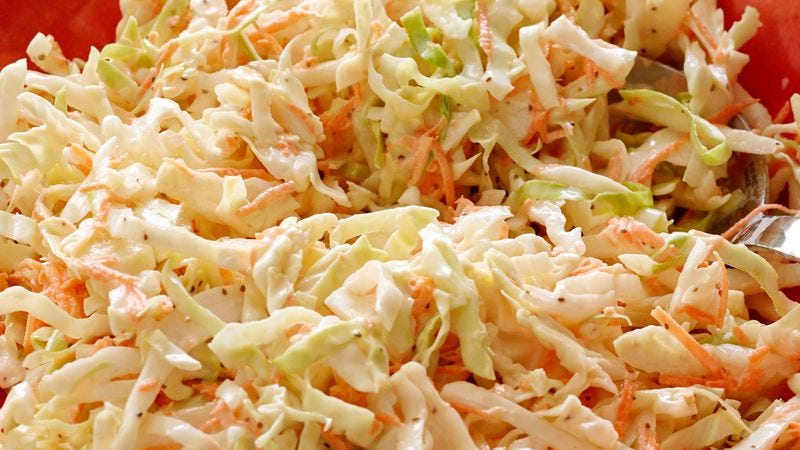 Illustration for article titled Read This: Some Facebook users are studiously reviewing coleslaw now