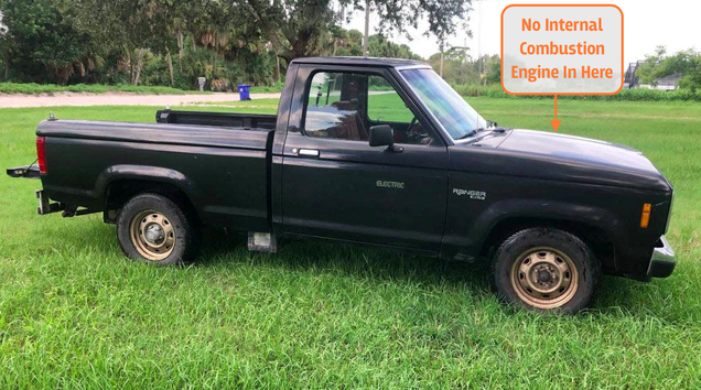 This Manual Transmission Electric Ford Ranger Has A 30 Mile