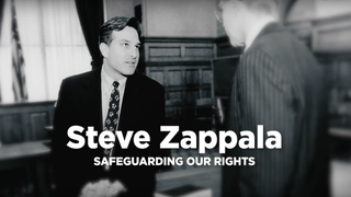 Image from Stephen Zappala's (left) campaign adYouTube screenshot