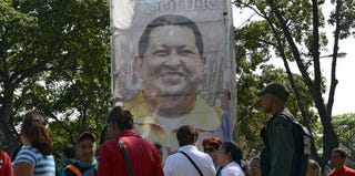 Supporters of Hugo Chavez (Getty Images)